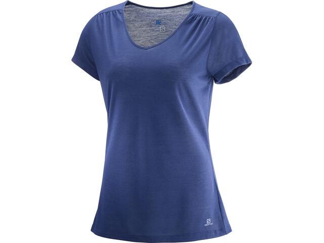 Salomon Ellipse T-shirt Femme, medieval blue